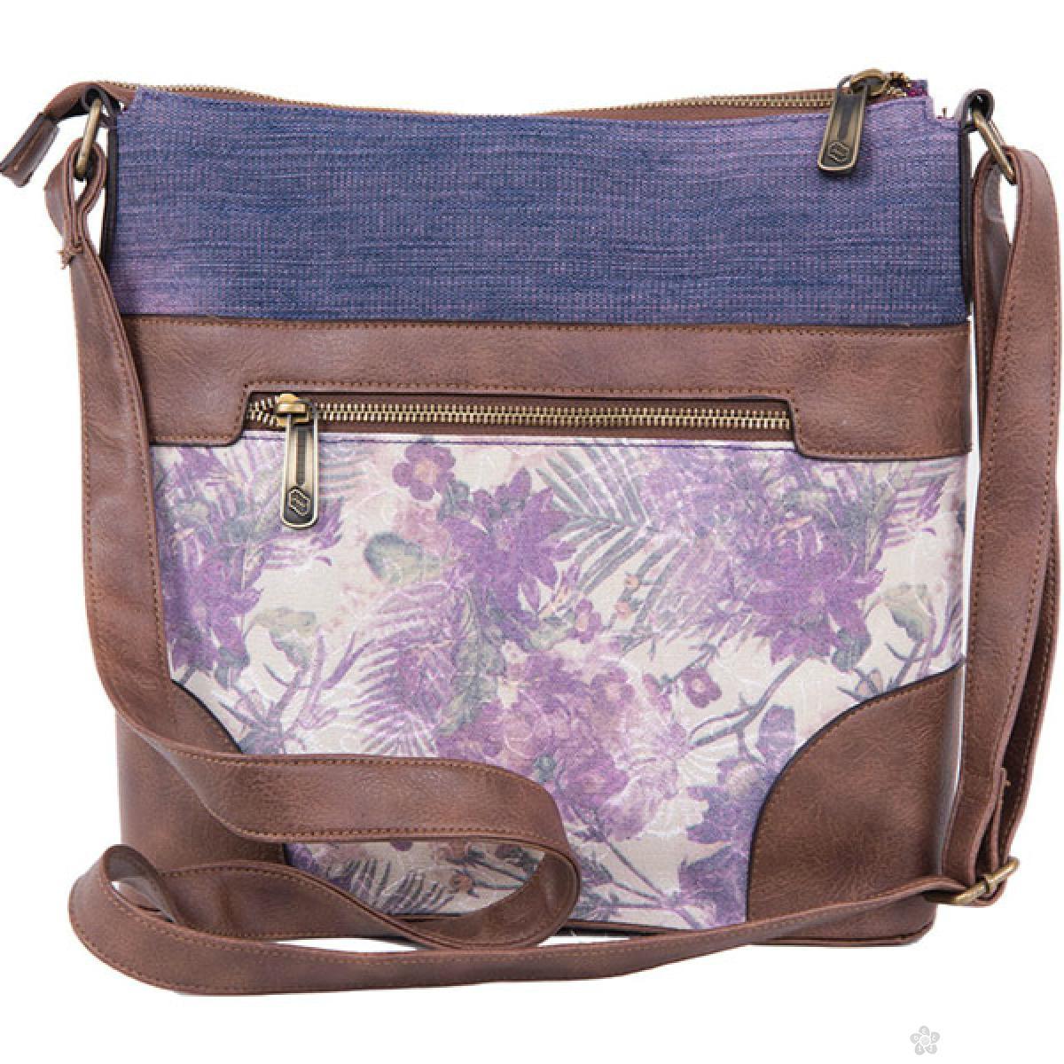 Torba na rame Floral Jeans, 121349