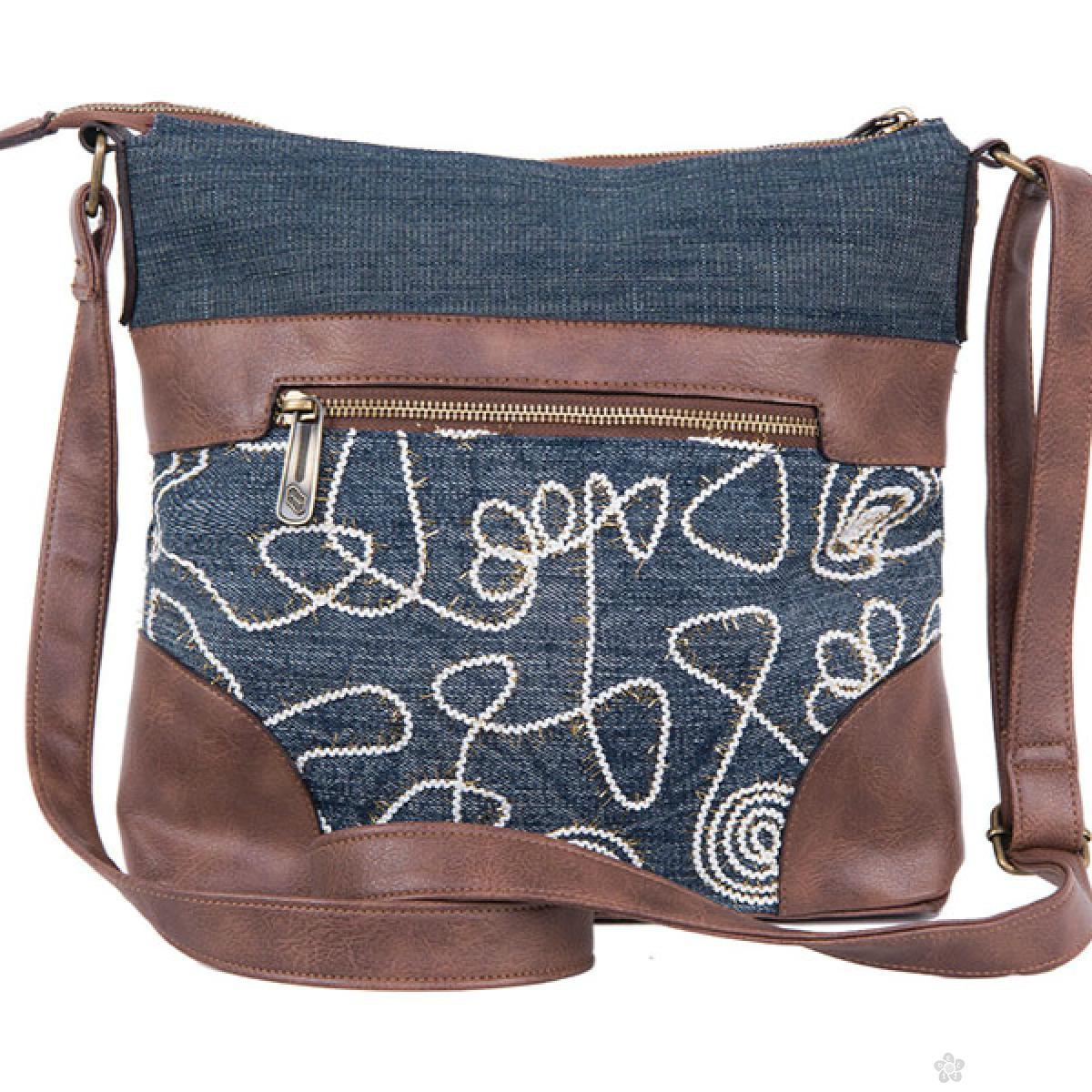 Torba na rame Jeans Glossy, 121357