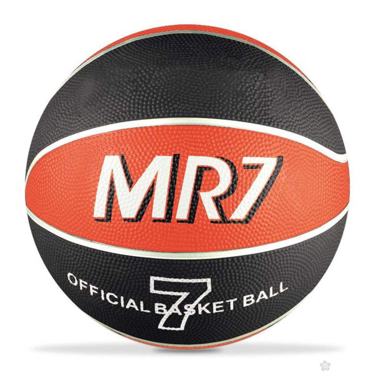 Lopta za košarku MR7 crna 3751