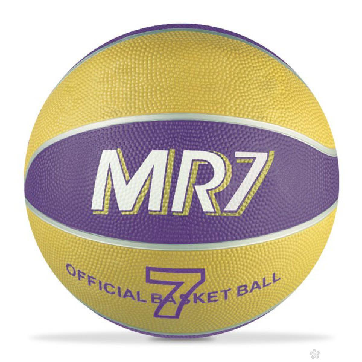 Lopta za košarku MR7 zuta 3751