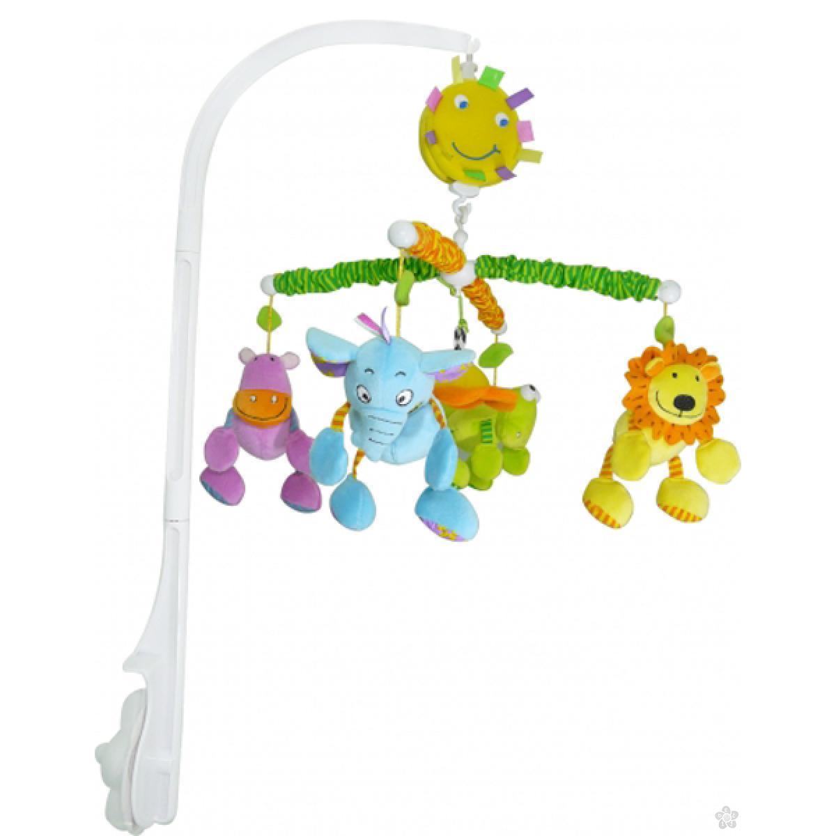 Muzička  vrteška Biba Toys drugari iz džungle, 147-JF357