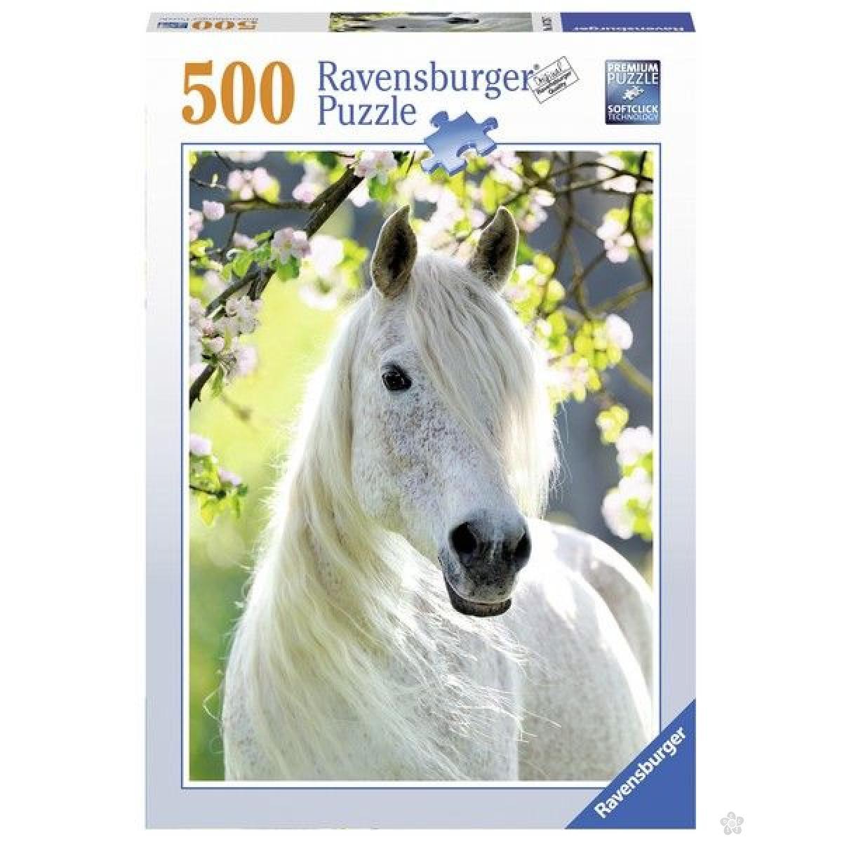 Ravensburger puzzle (slagalice) - Beli konj RA14726