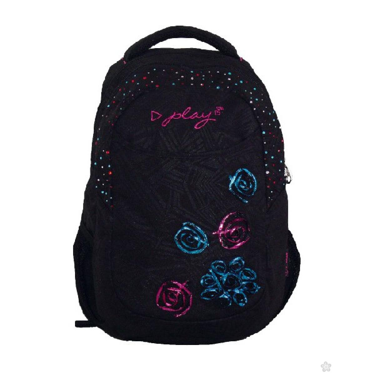 Ranac za školu J-fashion  Flower black, 160500