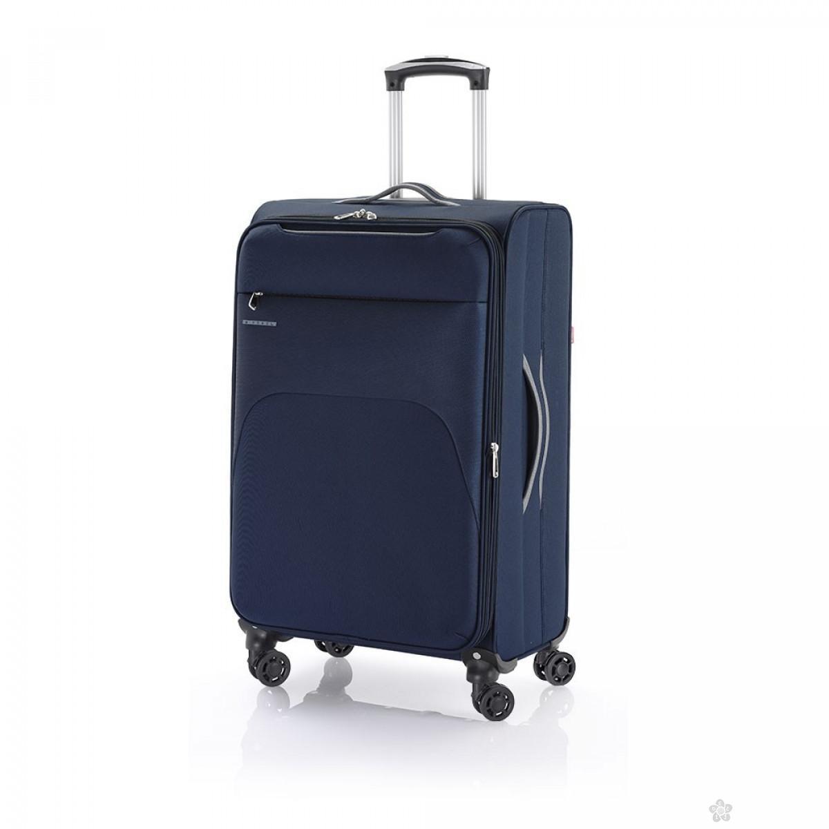 Kofer srednji polyester Zambia plava, 16KG113446E