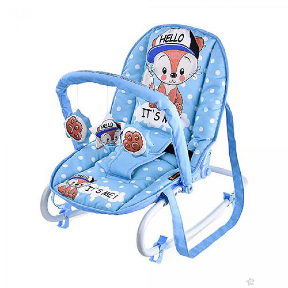 Ležaljka Top Relax,blue baby fox