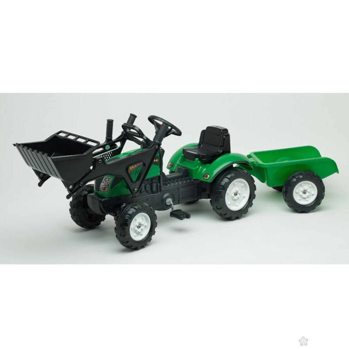 Traktor Falk na pedale sa prikolicom i viljuškom, 2052cm