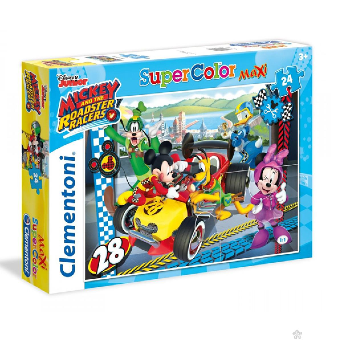 Puzzle 24 maxi Mickey and Roadster RacersClementoni, 24481