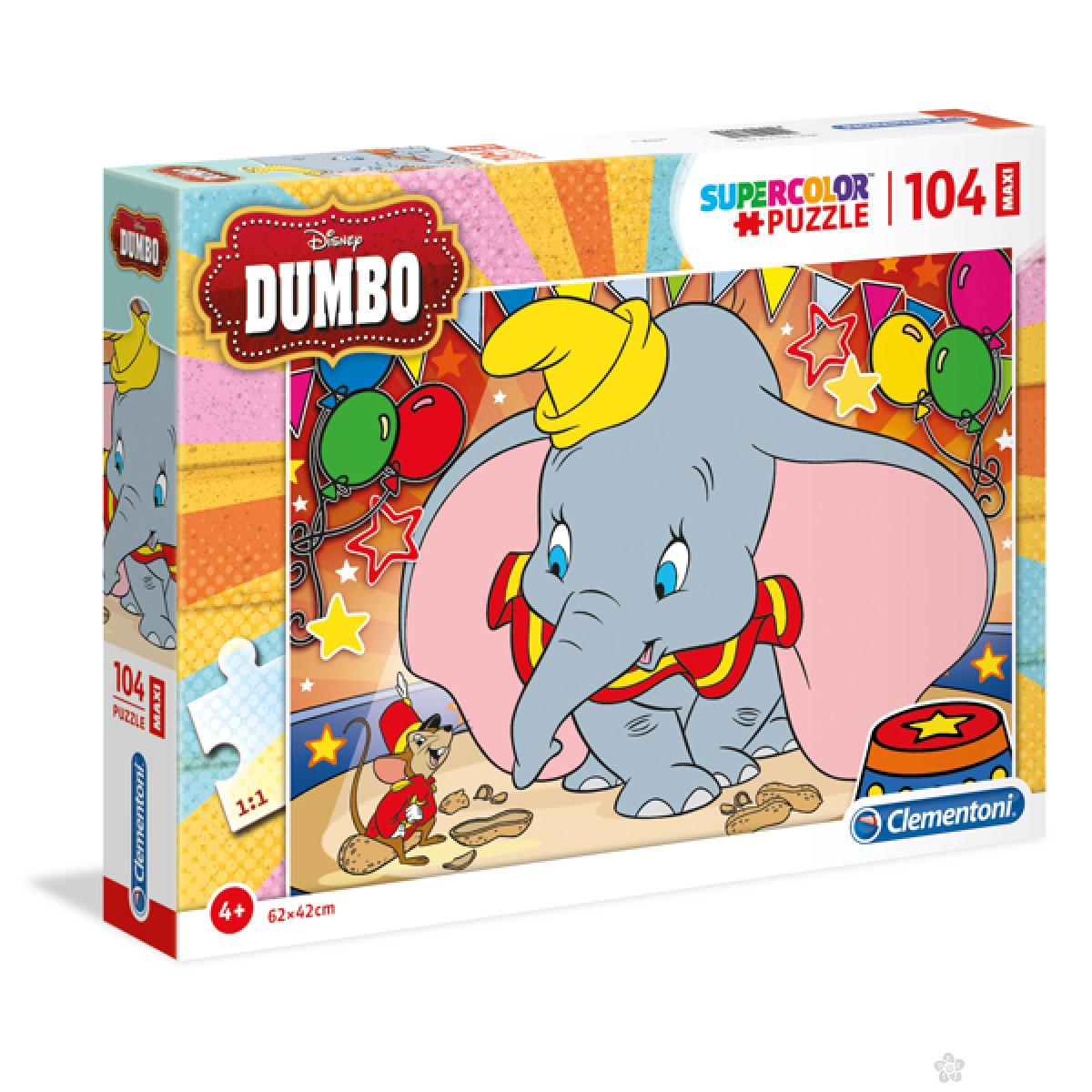 Puzzle 104 Maxi Dumbo Clementoni, 23728