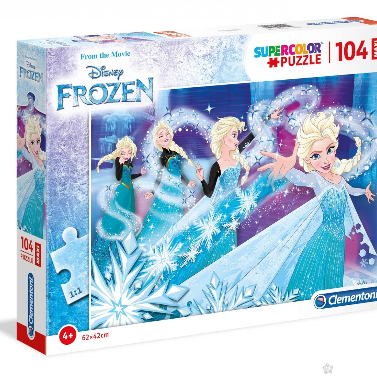 Puzzle 104 Maxi Frozen Clementoni, 23729