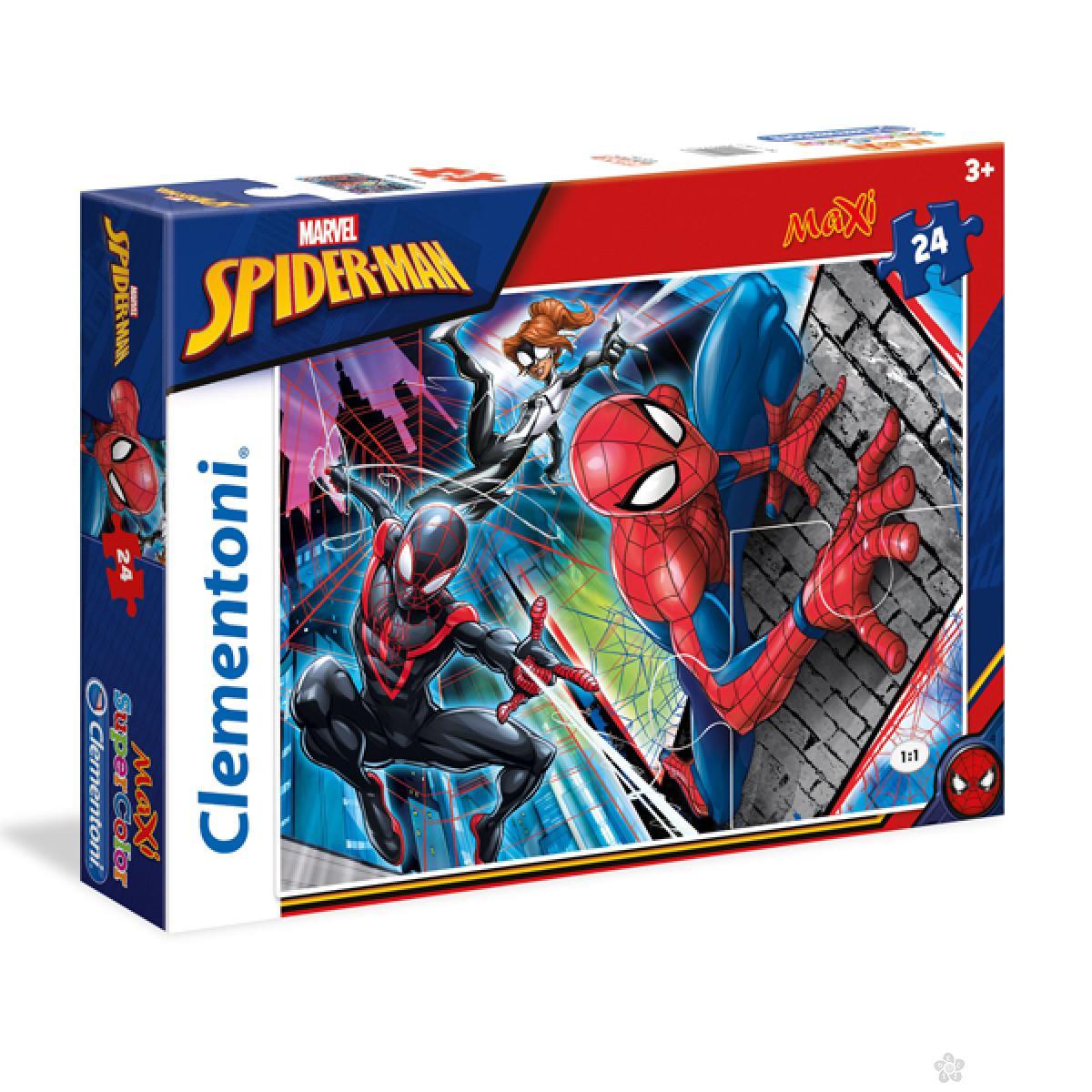 Puzzle 24 maxi Spiderman Clementoni, 24497