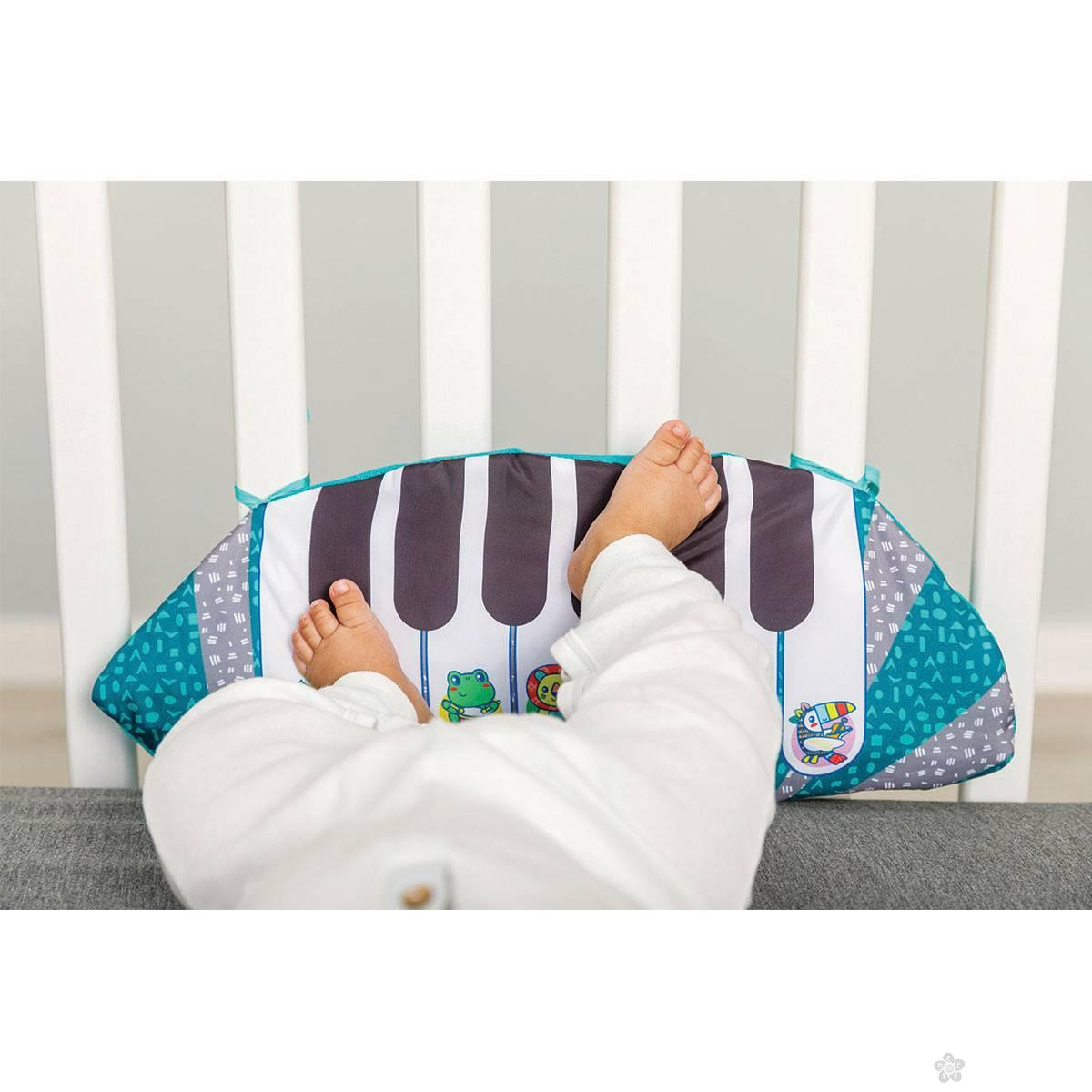 3 u 1 Crib and Tummy Time Kicking Piano 115208