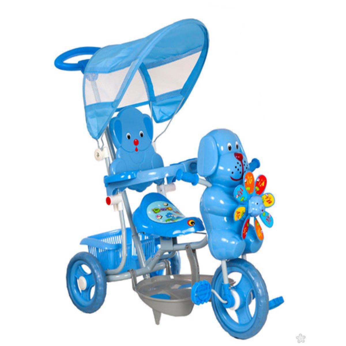 Tricikl sa ručkom i tendom Kuca propeler TS3201, 305121 PLAVI