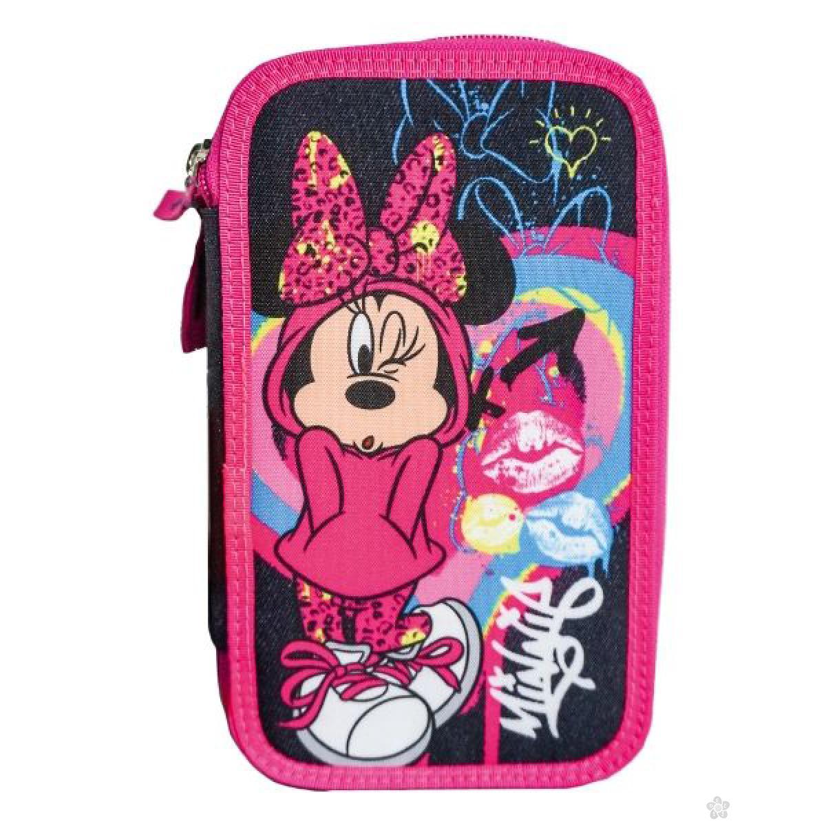 Pernica sa tri zipa Minnie Mouse Heart 318065