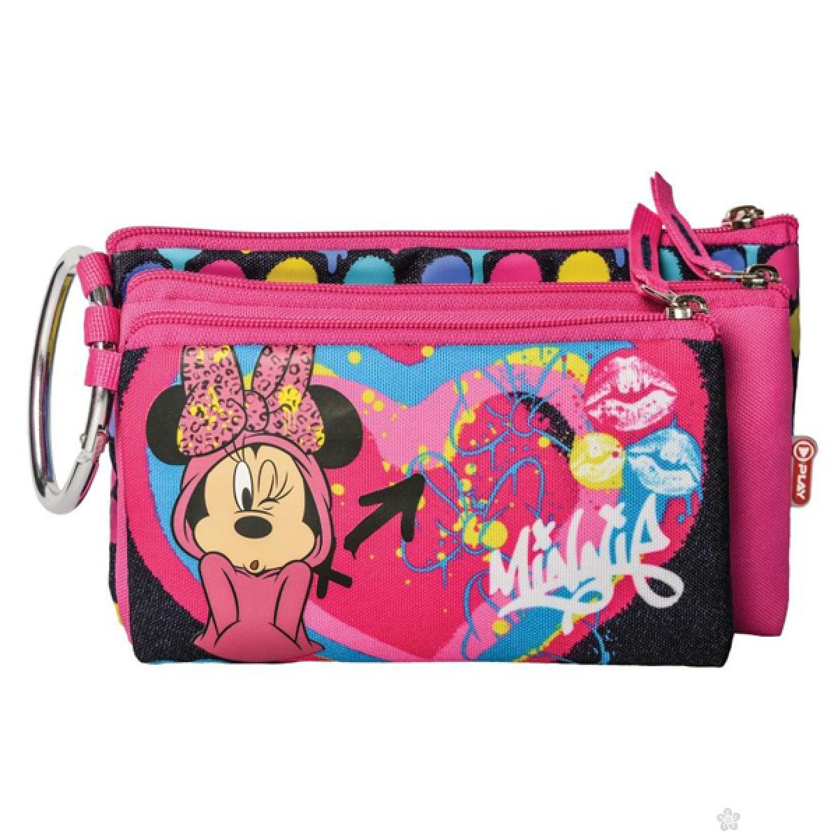 Pernica Minnie Mouse Heart sa tri rajsferšlusa 318066