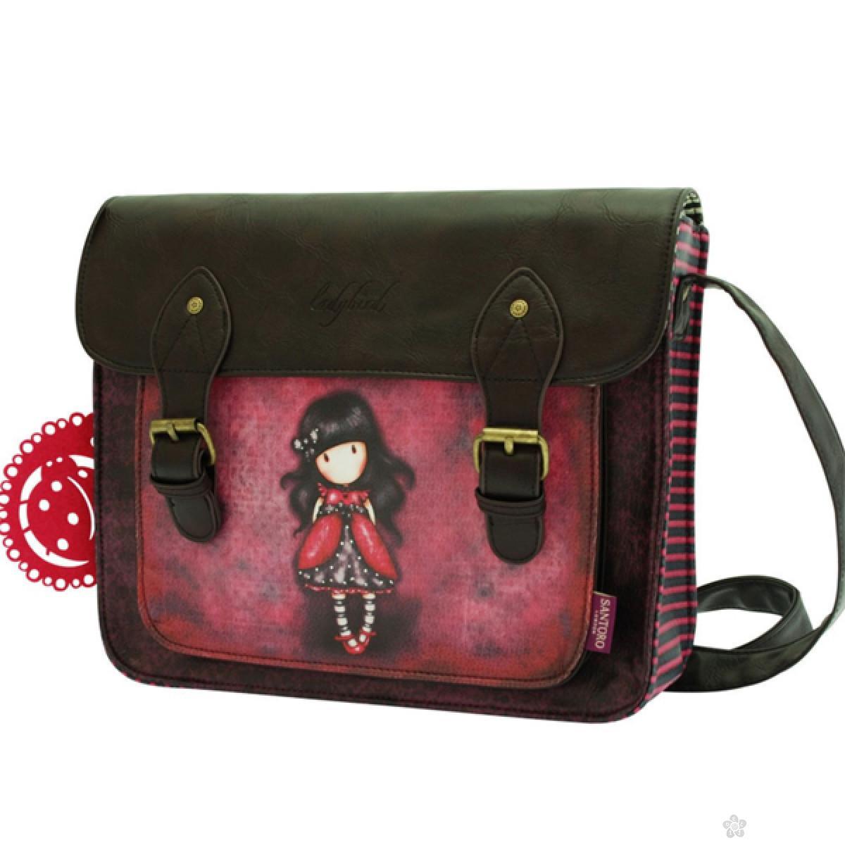 Gorjuss torba na rame kožna 2 kopče Ladybird 360GJ03