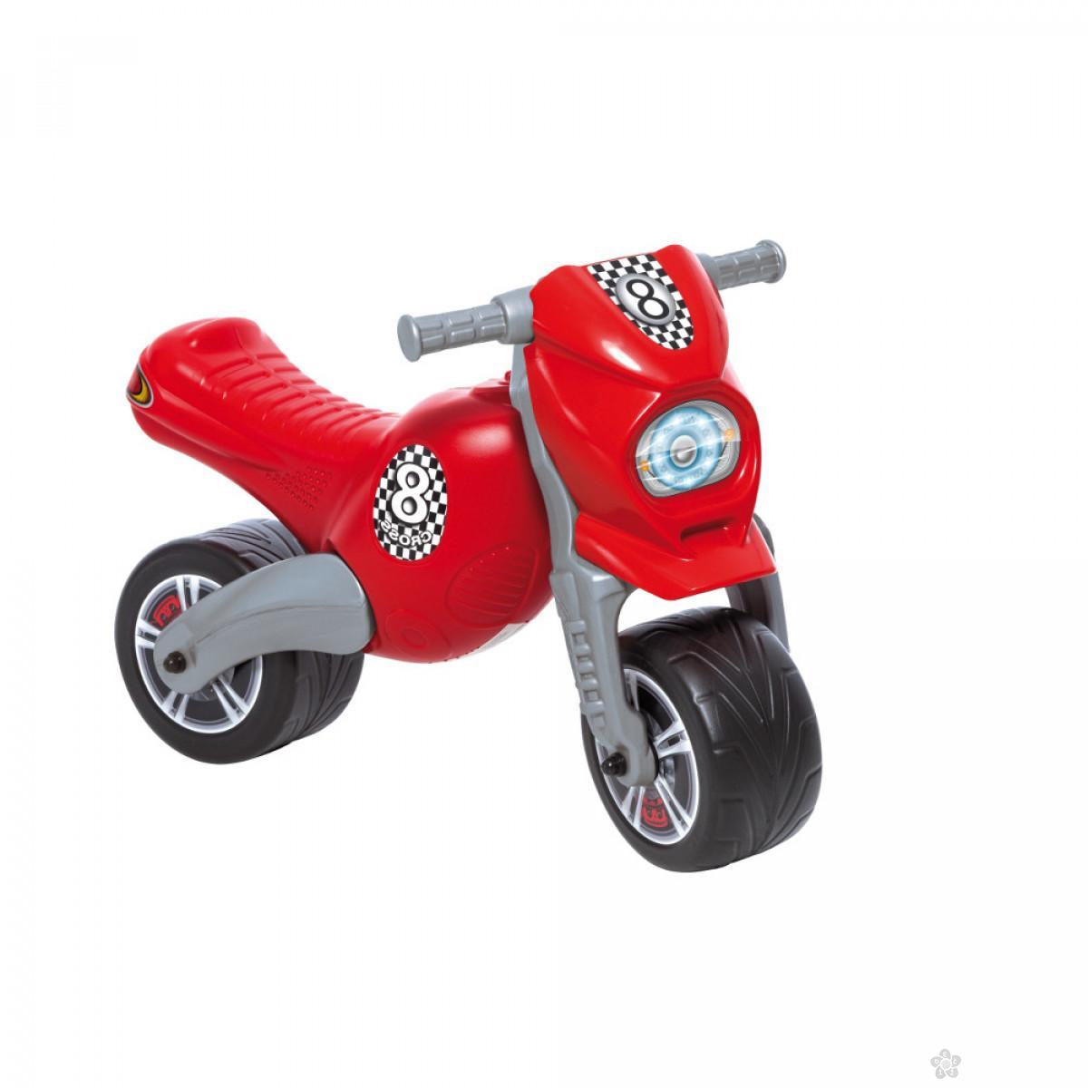 Dečija guralica Cross 8 Motor Bike crvena