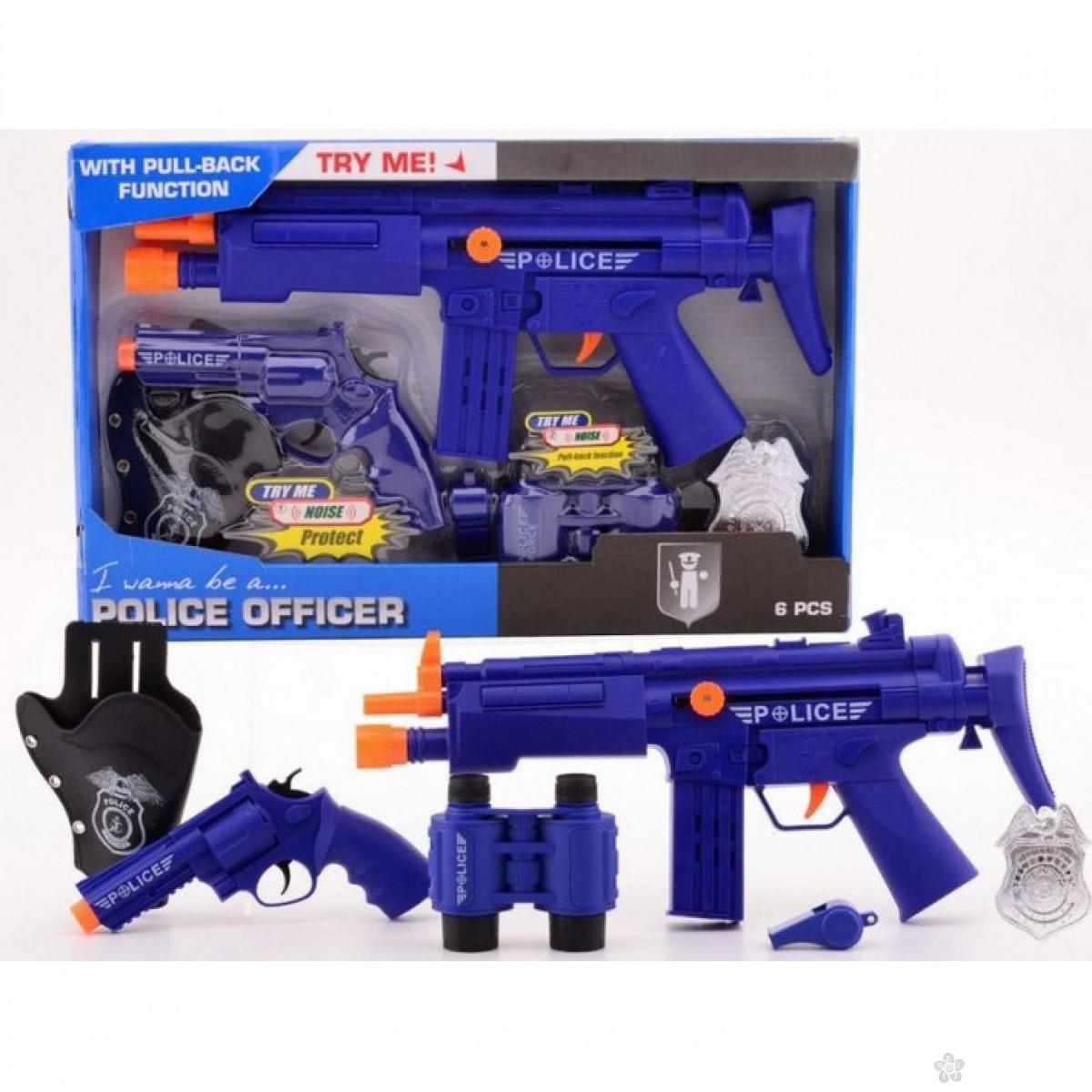 Policijski set Deluxe 6pcs 26010