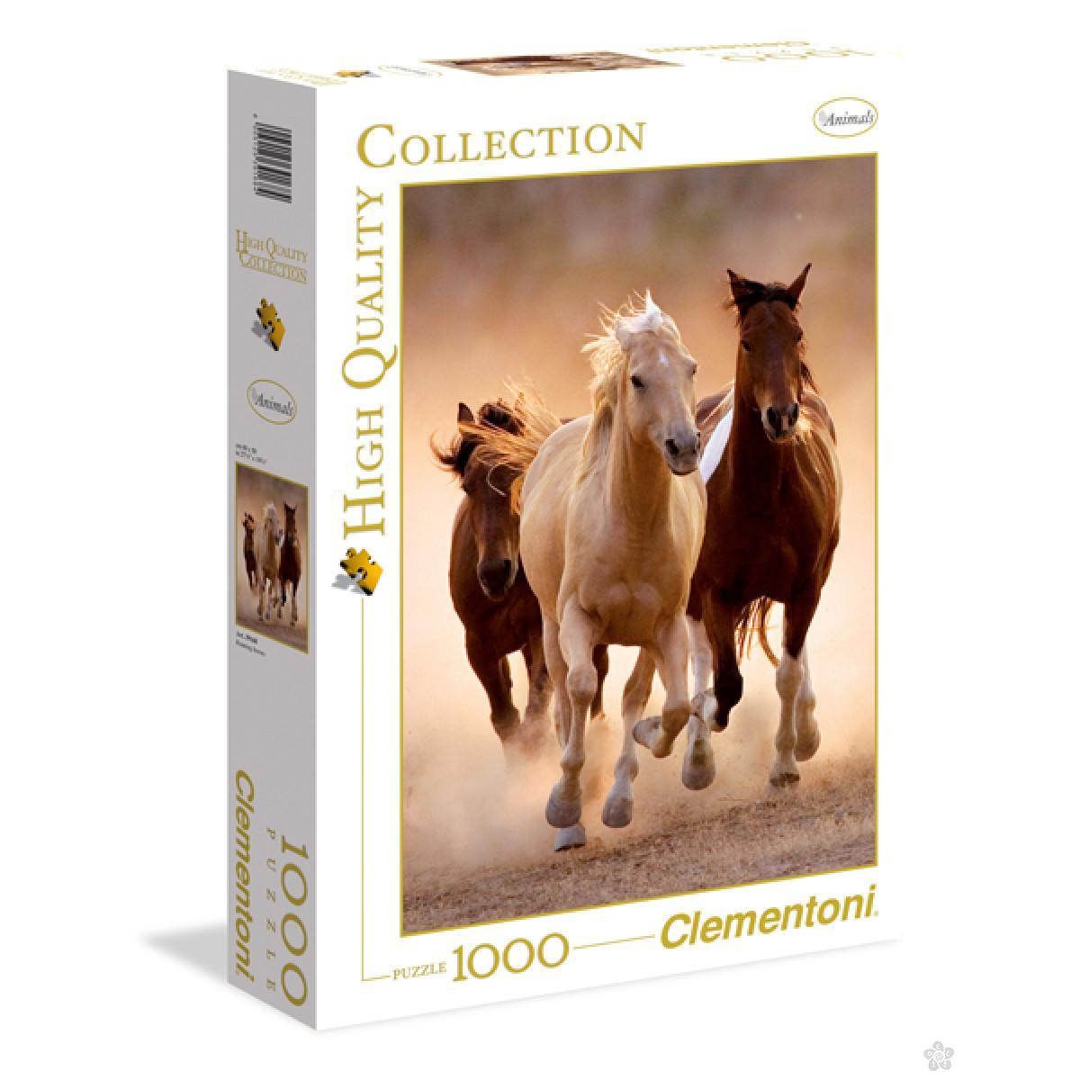 Clementoni puzzla Running Horses 1000pcs 39168