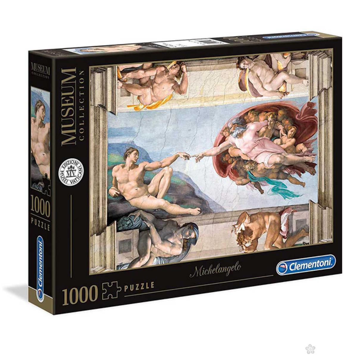 Puzzla Michelangelo The Creation of Man 1000 delova Clementoni, 39496