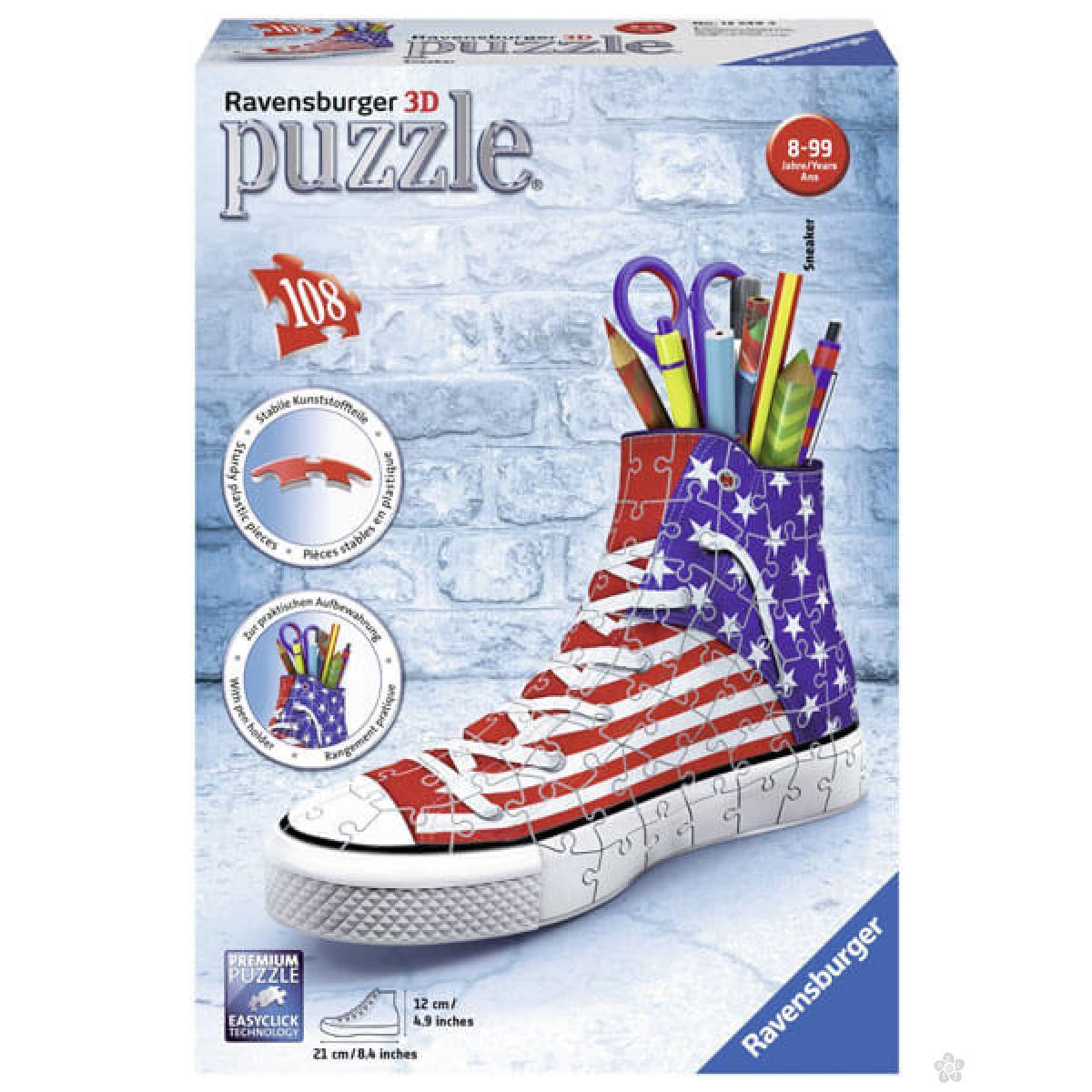 Ravensburger 3D puzzle Patika za olovke sa američkom zastavom