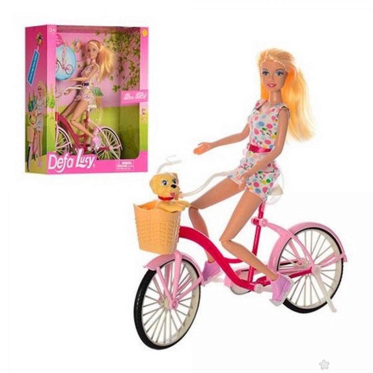 Lutka Defa na biciklu sa ljubimcem, 40702