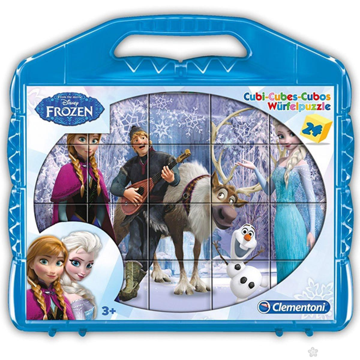 Kocke Frozen 24 dela Clementoni, 42430