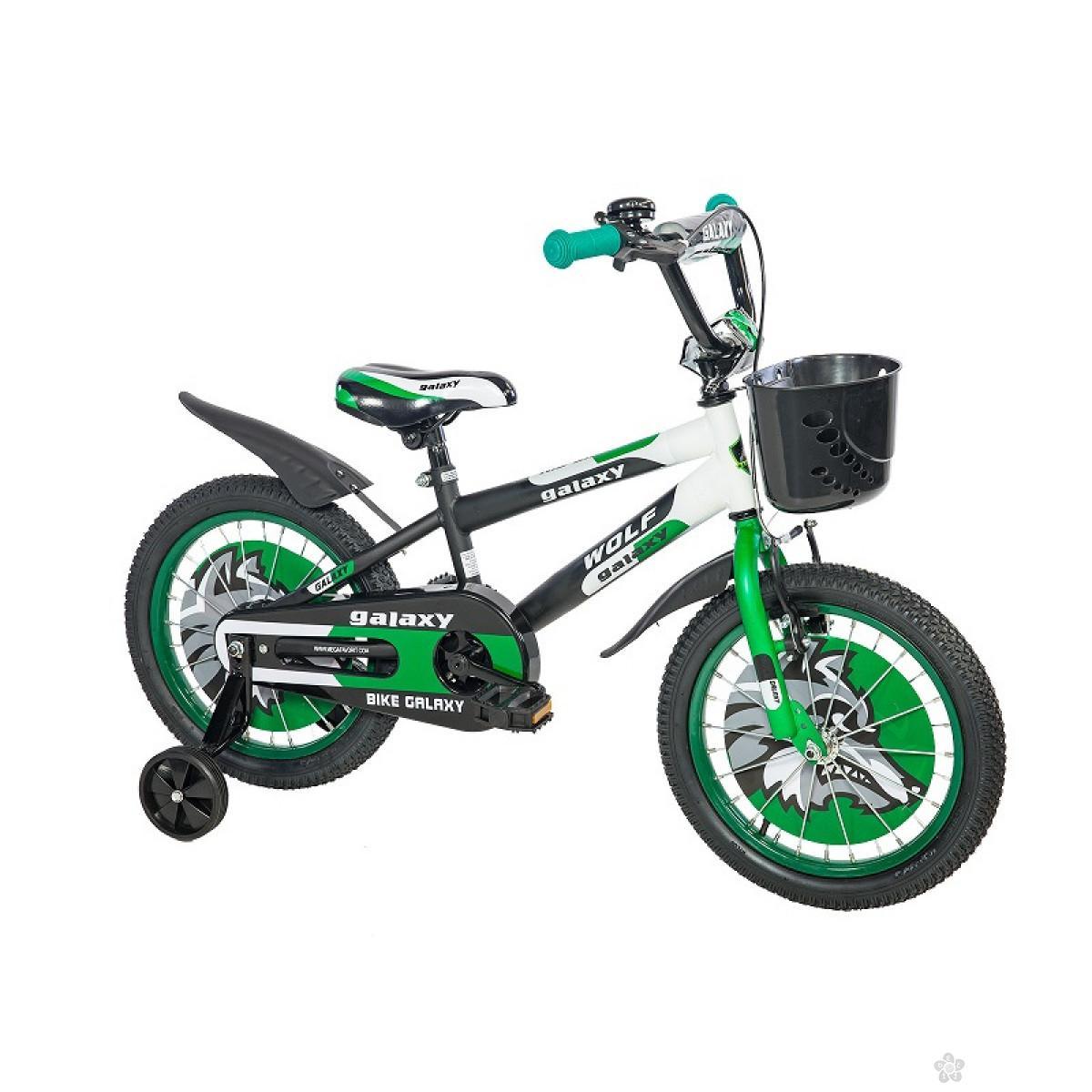 Dečiji Bicikl Wolf 16 crna/siva/zelena, 460460