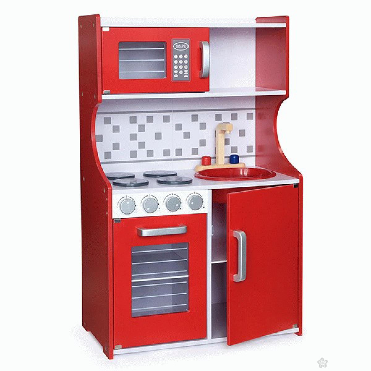 Drvena kuhinja Modern Red Viga, 50379