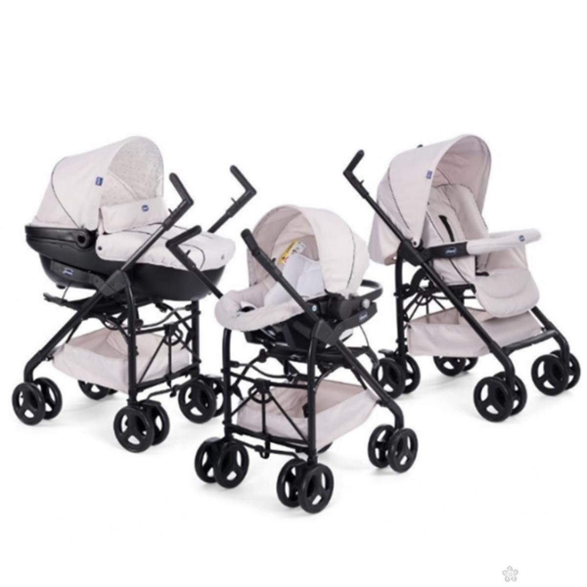 Trio Sprint Chicco sandshell-svetlo bež (kolica+autosedište+nosiljka), 5050103