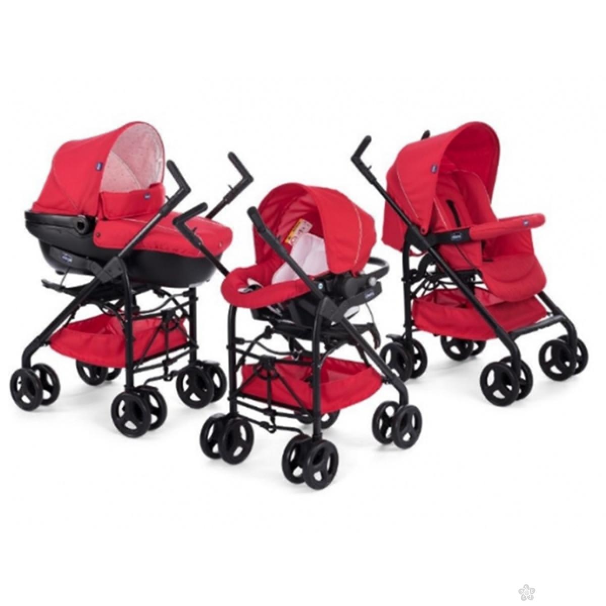Trio Sprint Chicco red passion-crveni (kolica+autosedište+nosiljka),5050105