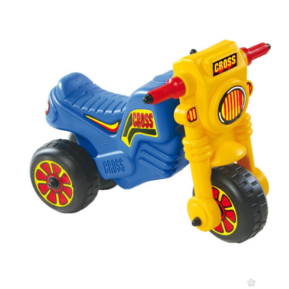 Dečija guralica Cross 1 Motor Bike plava, 540113