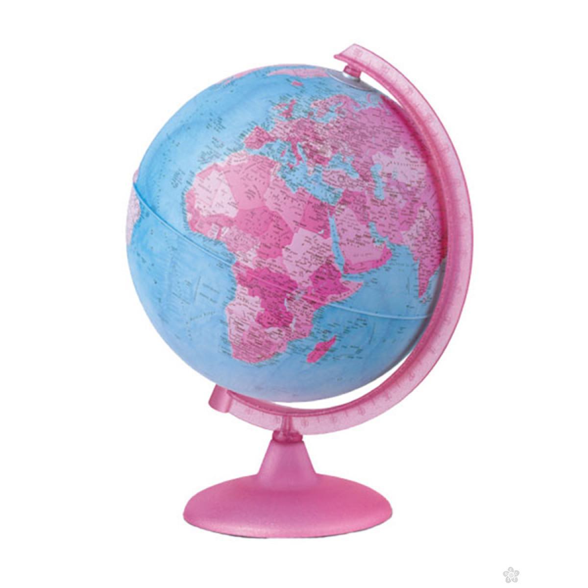 Globus pink svetleći