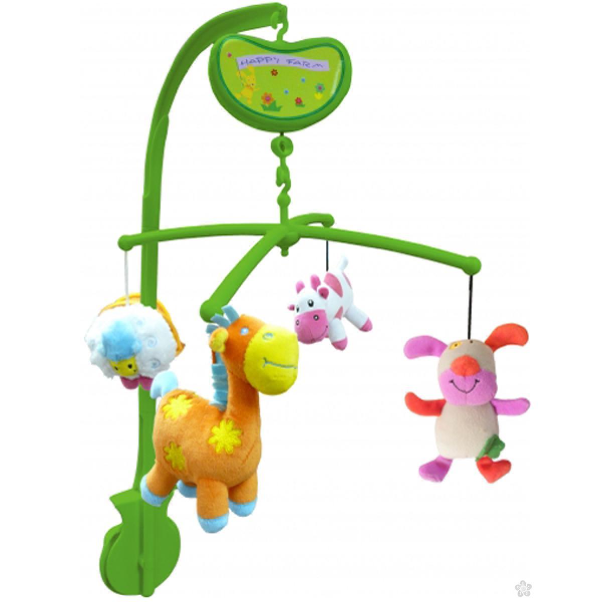 Vrteška za krevetac Biba Toys farma sa životinjama, 6060283