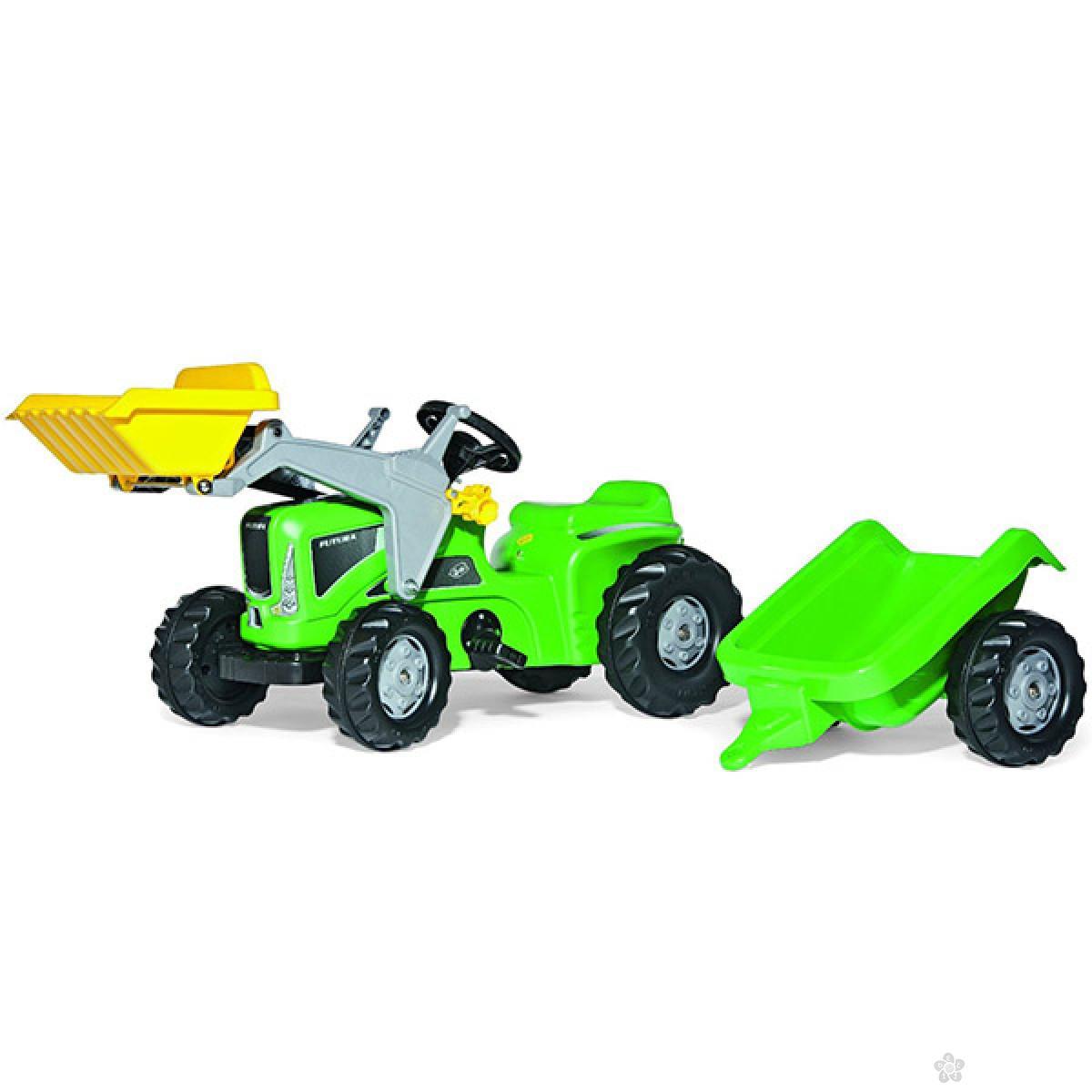 Traktor na pedale Futura sa prikolicom i utovarivačem 630035