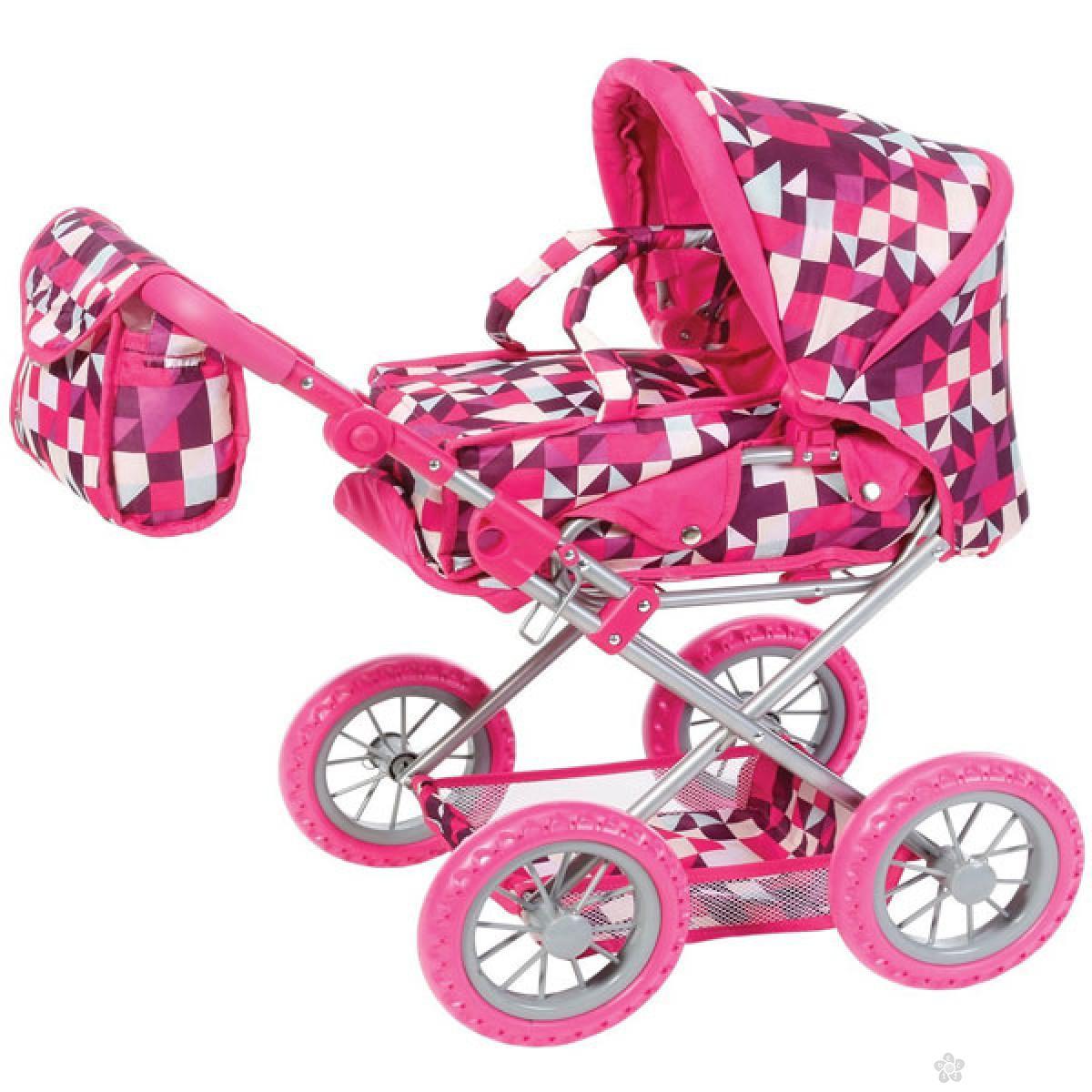 Kolica za lutke Knorr Toys Ruby Crazy Squares 63194
