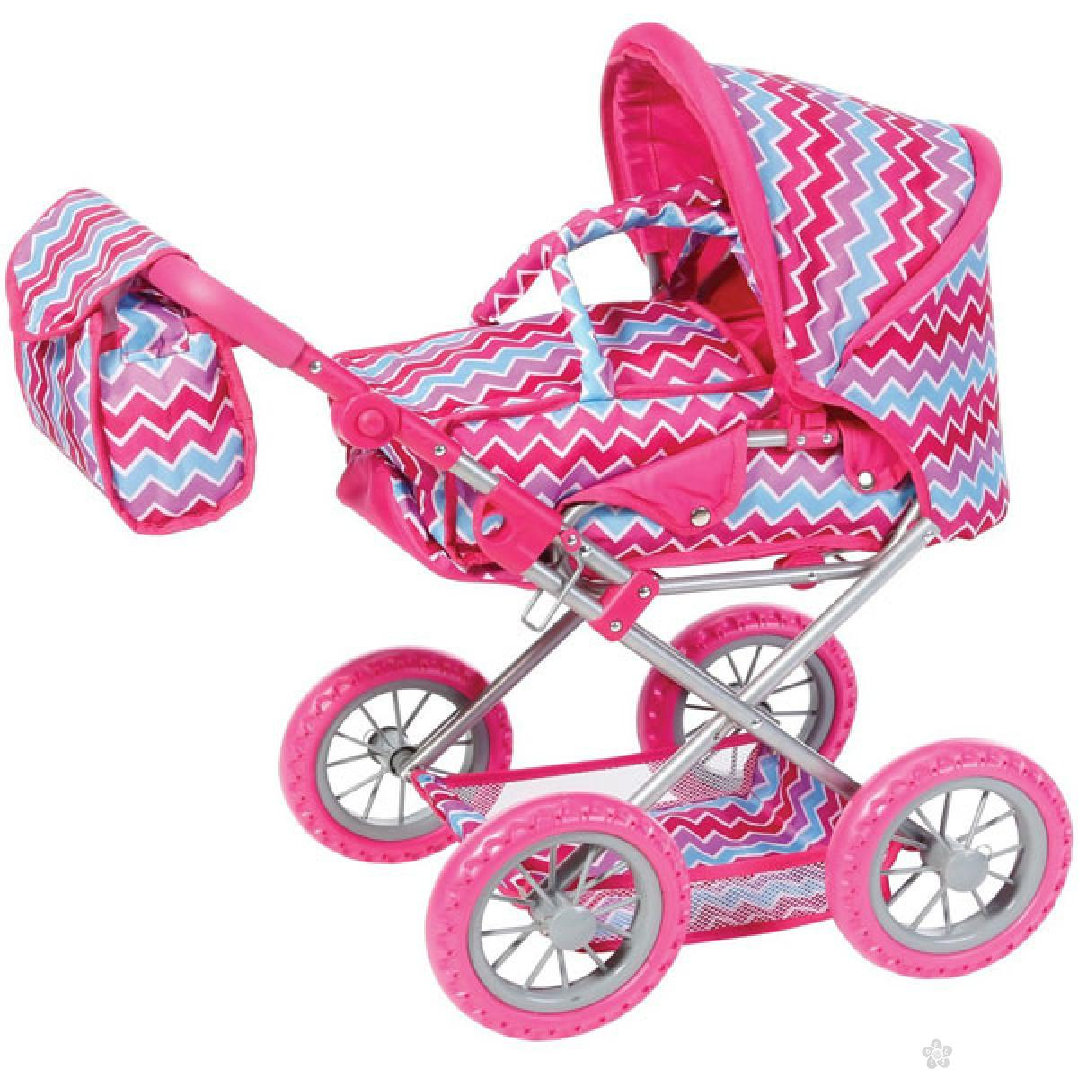 Kolica za lutke Knorr Toys Ruby Pink Zigzag 63196