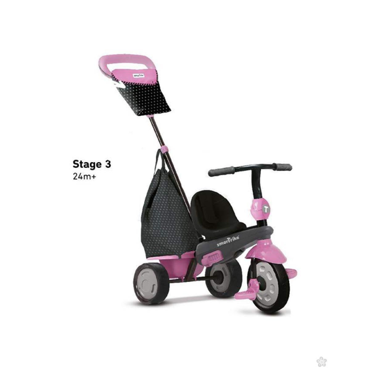 Tricikl Smart Trike Shine Pink, 6402202