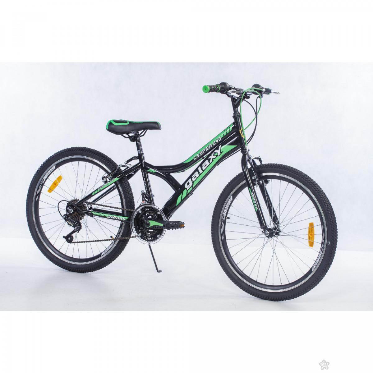 Dečiji Bicikl Casper 240 24/18 crna/zelena, 650082