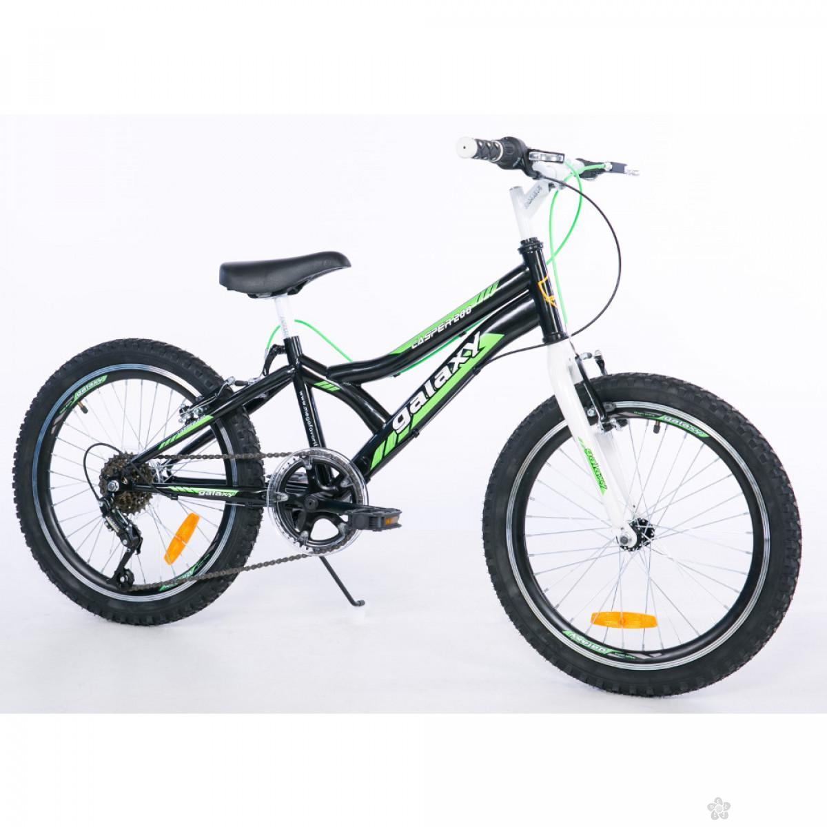 Dečiji Bicikl Casper 200,  20/6 crna/zelena, 650099