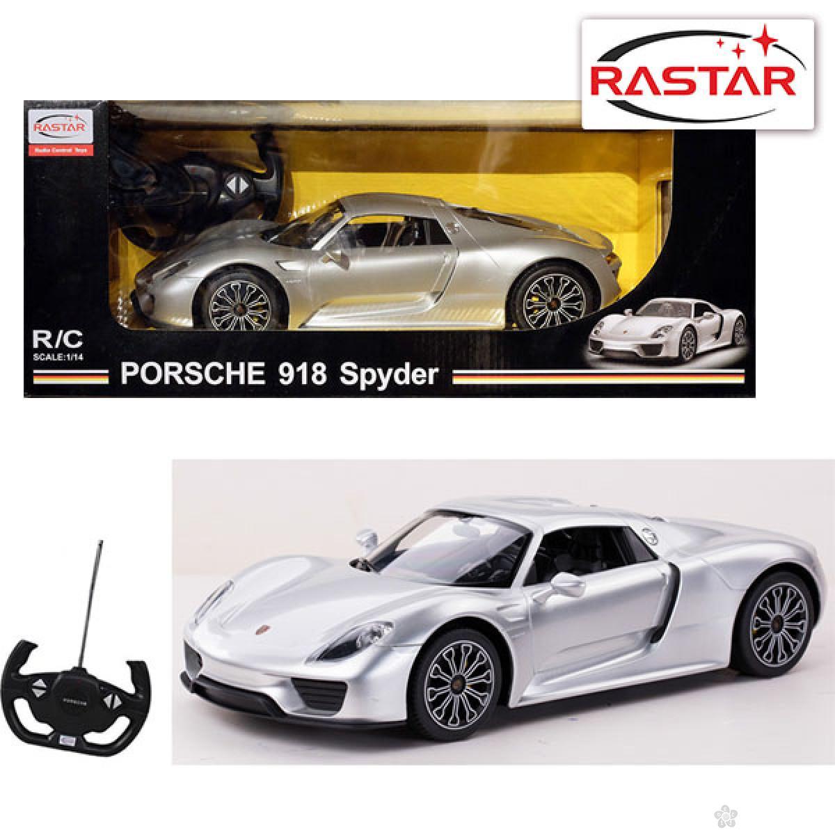 Auto na daljinsko upravljanje Rastar 1:14 Porsche 918 SW, 70700