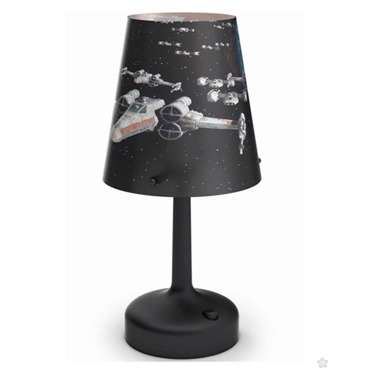 Stona lampa Philips Spaceships-crna Star Wars 71888/30/16