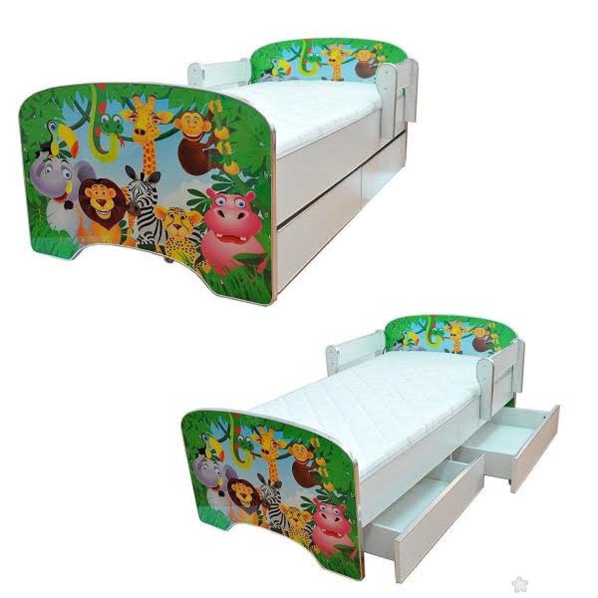 Krevet sa fiokom, Green Jungle model 803