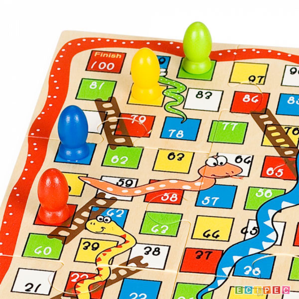 Društvena igra Zmijice i merdevine + Iks-Oks, 8545