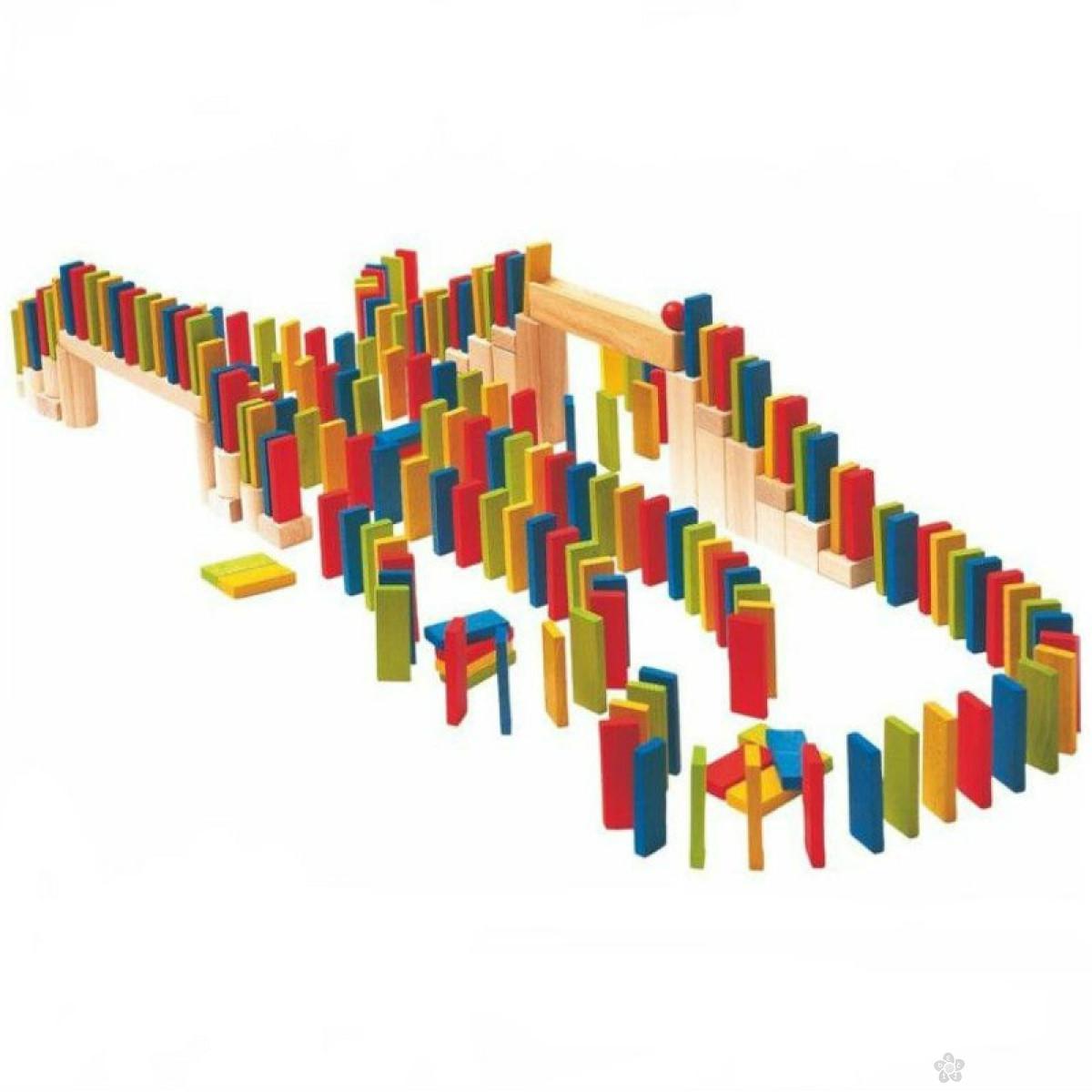 Domino kocke - više boja 100 komada, 90653