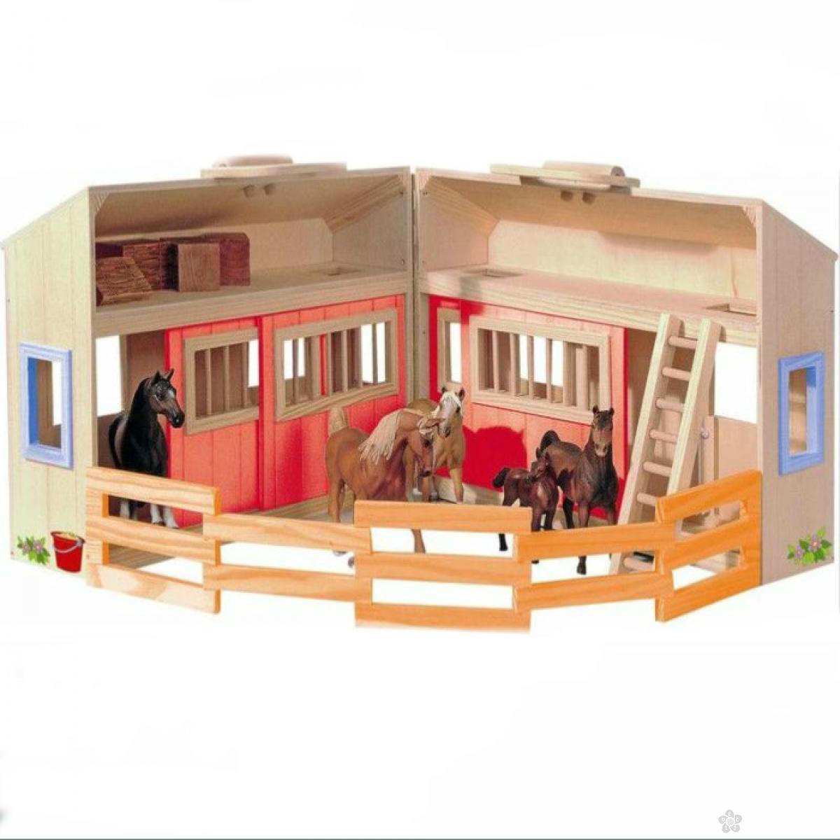 Drvena štala za konje, 90879
