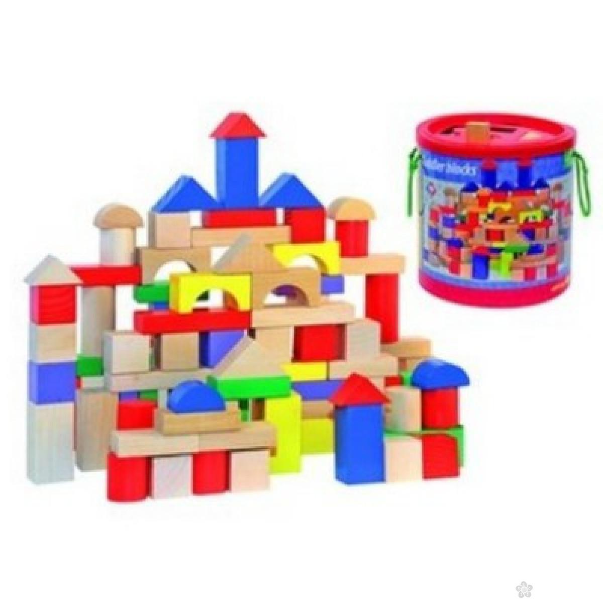 Drvene kocke u boji-100 deova, 90905