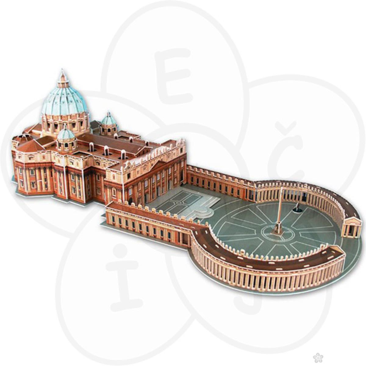 3D puzzle Bazilika Svetog Petra u Vatikanu 58098
