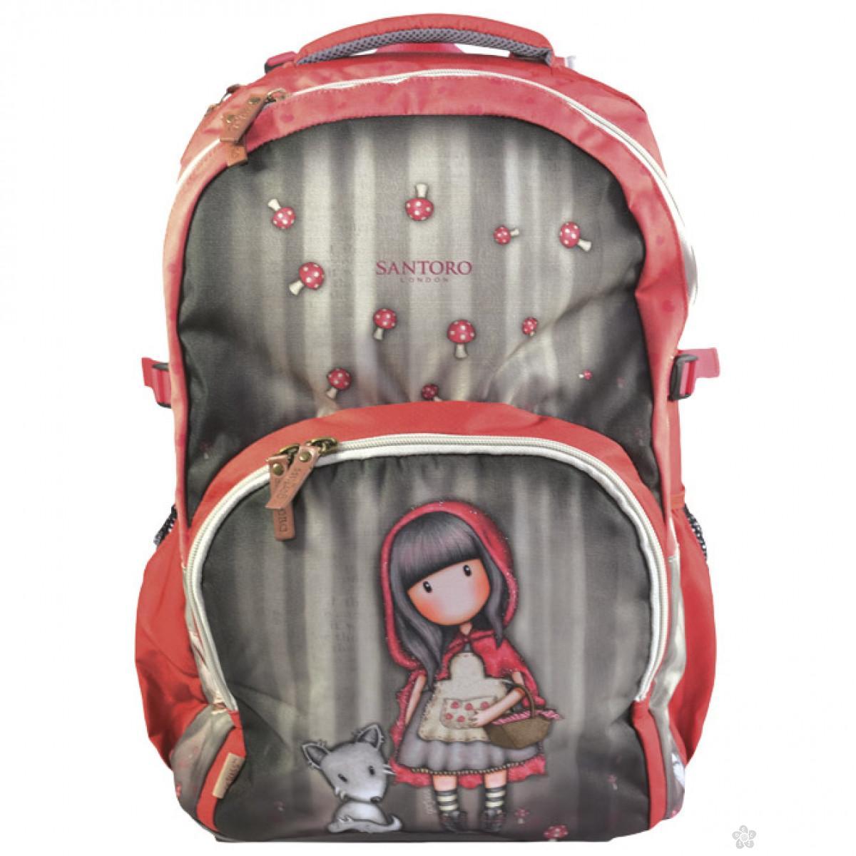 Gorjuss ranac đački 2 zipa Red Riding Hood G4193013