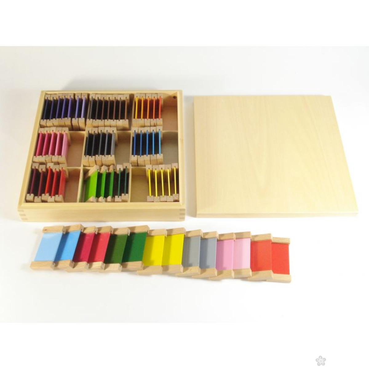 Montesori drvene pločice u boji, HTS0007