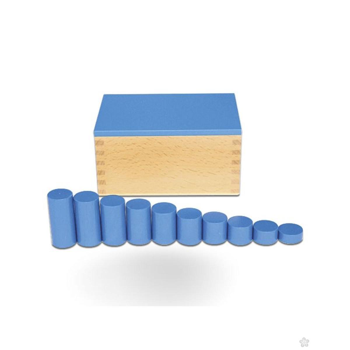 Montesori kutija sa cilindrom-plava, HTS0045B